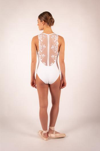 Leotard Ballet Rosa Esther white
