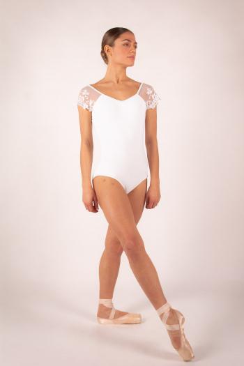 Justaucorps Ballet Rosa Josephine blanc