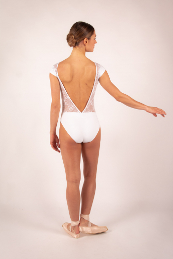 Leotard Ballet Rosa Maeva white