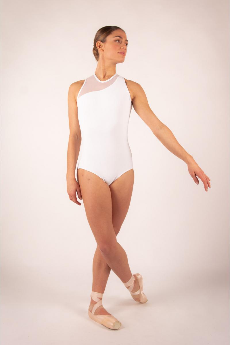 Ballet Rosa Nadège white leotard
