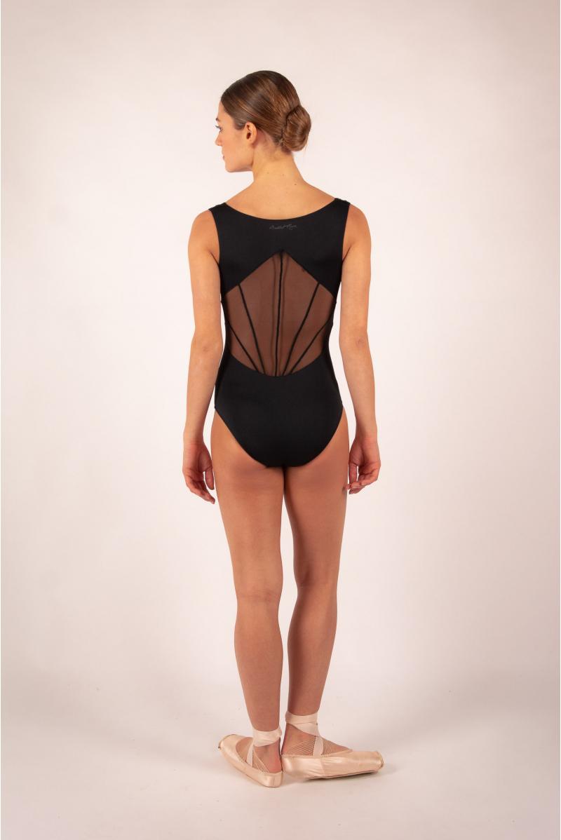 Leotard Ballet Rosa River noir