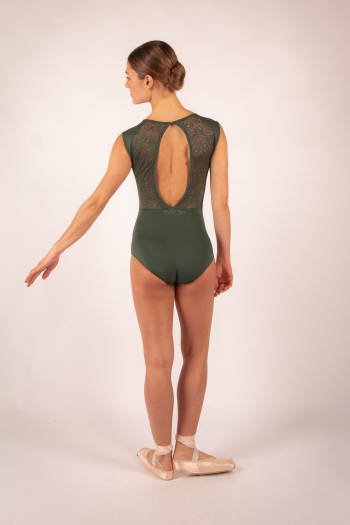 Ballet Rosa white lace women leotard