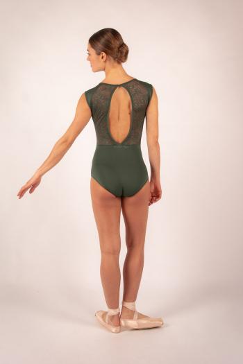 Justaucorps dentelle Ballet Rosa Rita olive