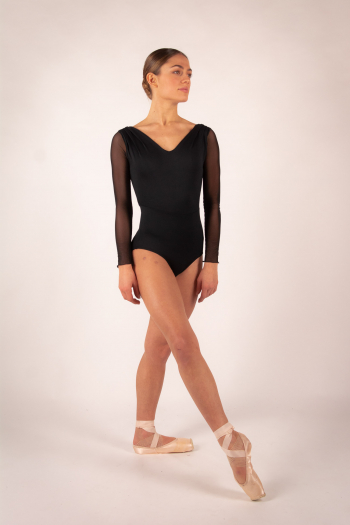 Leotard Ballet Rosa Shirley black
