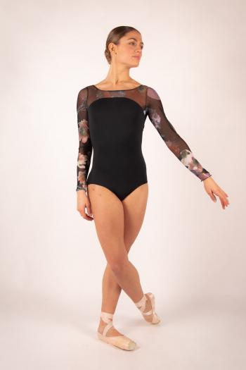 Ballet Rosa Serene black leotard