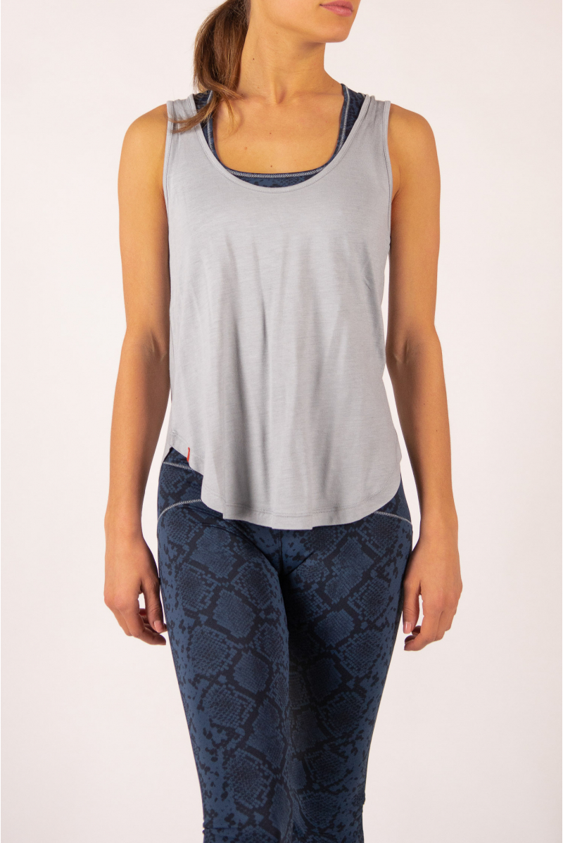 Grey Maevy Coco Bamboo Tank Top