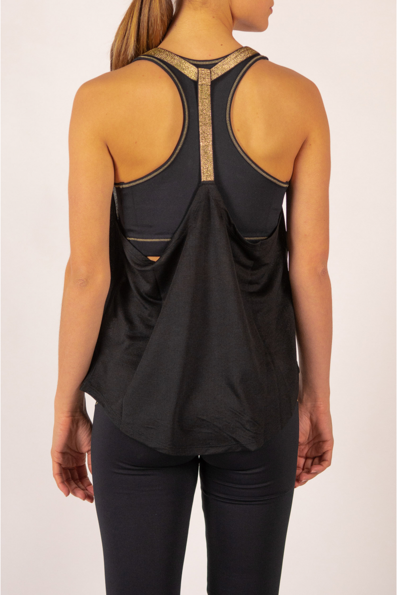 Tank top Leotee black and gold