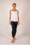 Yuj Leotee white and gold tank top
