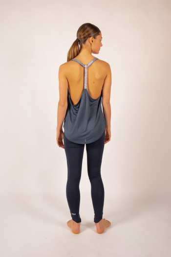 Tank top Leotee grey and silver