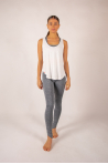 White Maevy Coco Bamboo Tank Top