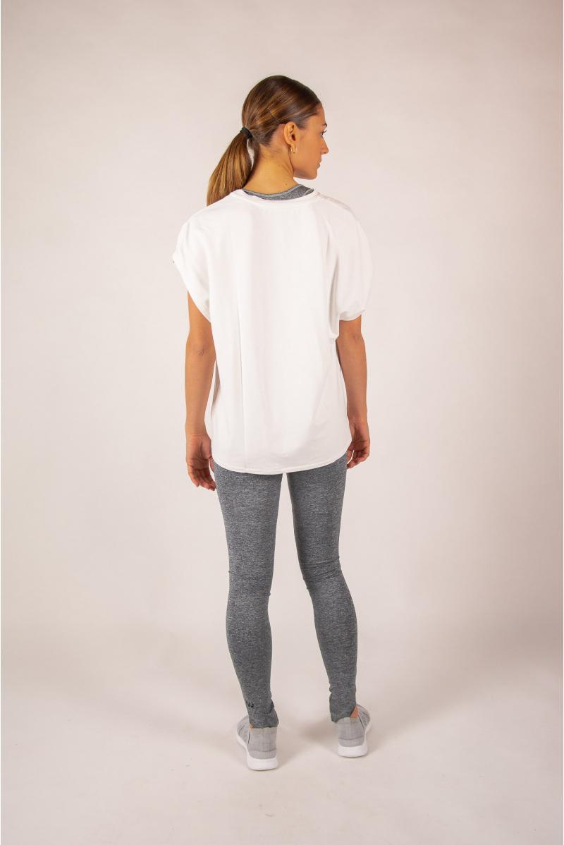 Short sleeve top Majestic Filatures white