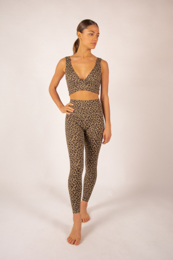 Century Varley Coffee Cheetah Leggings