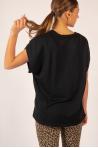 Short sleeve top Majestic Filatures black