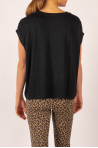 Majestic Filatures black short-sleeved round neck top