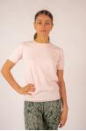 T-shirt coton cachemire Luna Absolut Cashmere poudré
