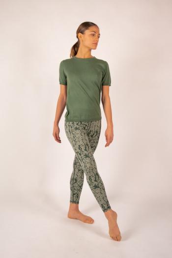 T-shirt coton cachemire Luna Absolut Cashmere kaki