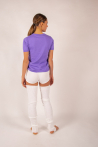 T-shirt coton cachemire Luna Absolut Cashmere lilas