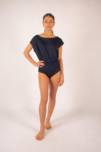 Body femme col danseuse Majestic Filatures marine