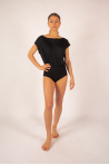Body femme col bateau Majestic Filatures noir