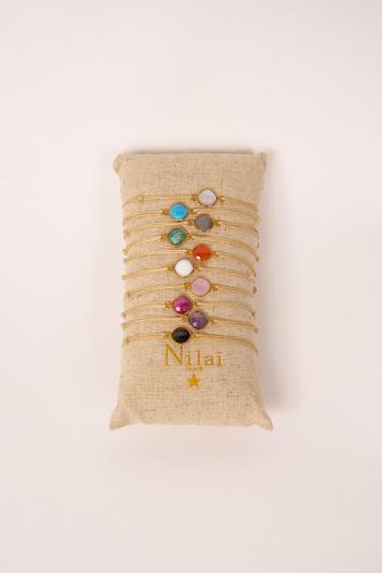 Bracelet lien color stones Nilaï