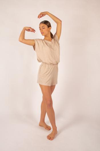 Majestic Filatures sand linen shorts