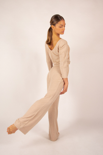 Pantalon en lin Majestic Filatures sable