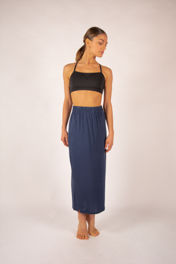 Bamboo long skirt Maevy Lotus marine