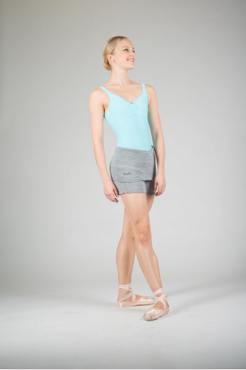 Wear Moi Tiara grey knitted shorts