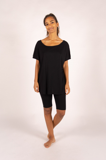 Oversize bamboo Maevy Parfait black top