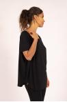 Oversize bamboo Maevy Parfait black top