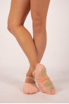 Demi-pointes Sansha Vegan bi-semelle rose femme