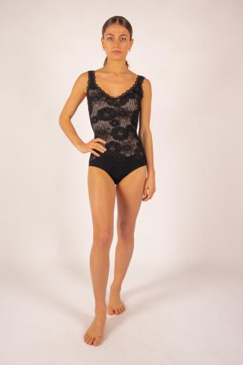 Repetto D0733 Black Lace Leotard