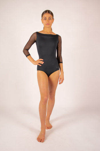 Repetto black long sleeves leotard D0678