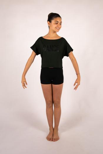 T-Shirt court Temps danse Agile Jr Stripes noir
