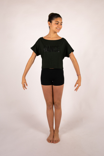 Temps danse Agile Stripes short black t-shirt