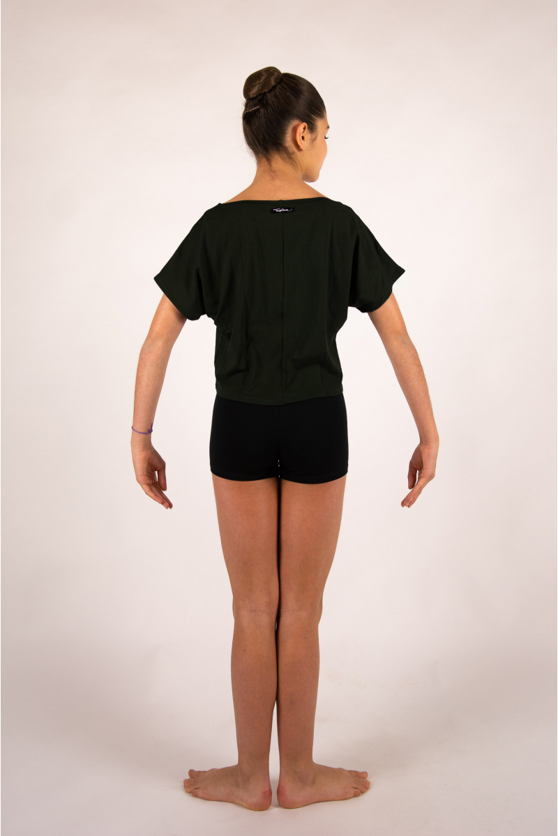 Temps danse Agile Stripes short black t-shirt