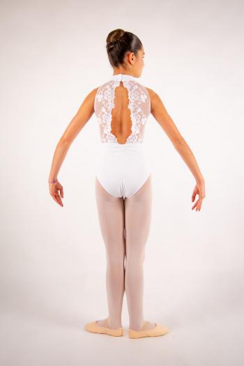 Justaucorps enfant Ballet Rosa Amélie blanc