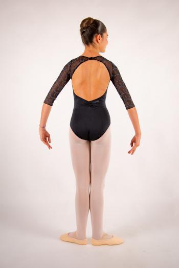 Justaucorps enfant Ballet Rosa Anouk noir/gris