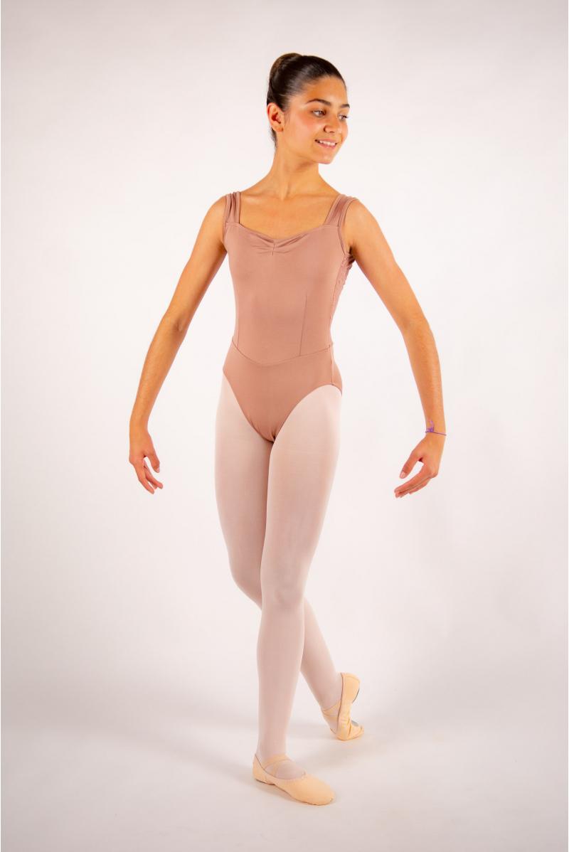 Justaucorps enfant Ballet Rosa Inaya café au lait