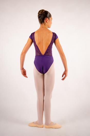 Justaucorps enfant Ballet Rosa Maeva prunus