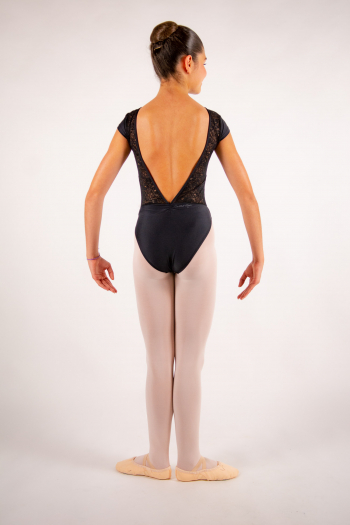 Justaucorps enfant Ballet Rosa Maeva noir