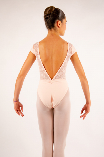 Justaucorps enfant Ballet Rosa Maeva poudré