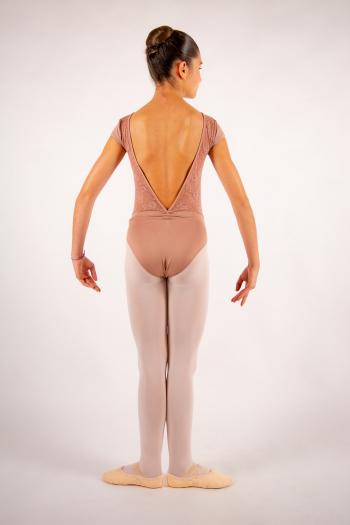 Justaucorps enfant Ballet Rosa Maeva café au lait