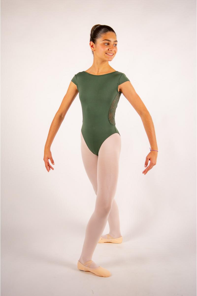 Justaucorps enfant Ballet Rosa Maeva olive