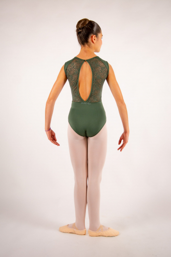 Justaucorps enfant Ballet Rosa Rita olive