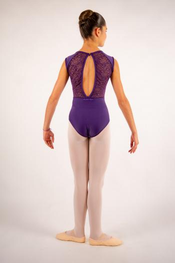 Justaucorps enfant Ballet Rosa Rita prunus