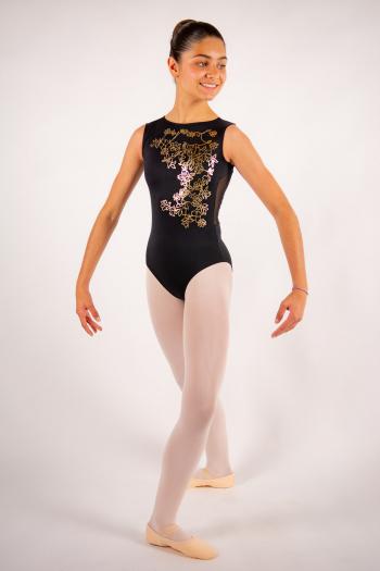 Justaucorps enfant Ballet Rosa Thea noir