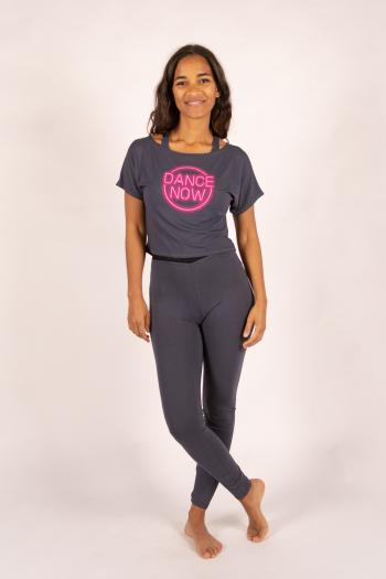T-shirt court logo neon Temps Danse rock