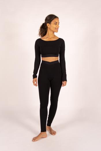 Wide elastic leggings Temps Danse Gloria black