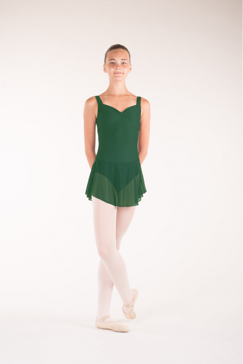 Wear Moi Daphne child forest green skirt